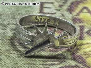 Ring - Argent Dawn Signet (Size 13) in Fine Detail Polished Silver
