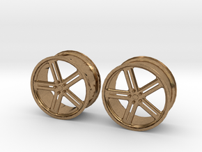 17 Inch Wheel in Natural Brass