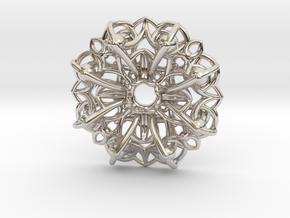 Mandala Flow Pendant in Platinum