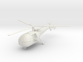 BW02 Alouette III G Car (1/100) in White Strong & Flexible