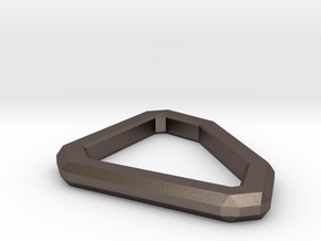 Star Lord Belt D-Ring in Polished Bronzed Silver Steel
