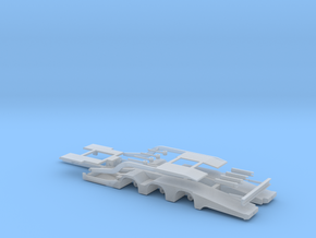 Truck Transporter Trailer in Smooth Fine Detail Plastic