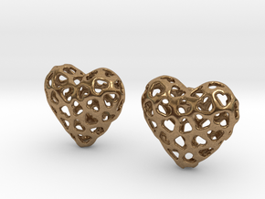 Small hearts, Big love (from $17.50) in Natural Brass