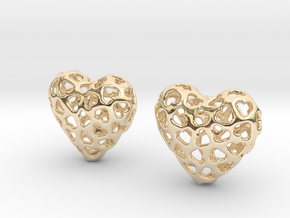 Small hearts, Big love (from $17.50) in 14K Yellow Gold