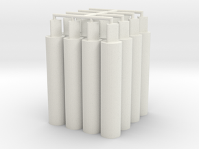 16x Thick Pegs 2.0 in White Natural Versatile Plastic