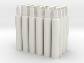 32x Pegs 2.0 in White Natural Versatile Plastic