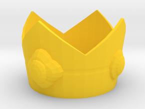 Princess Daisy cosplay mini crown in Yellow Processed Versatile Plastic