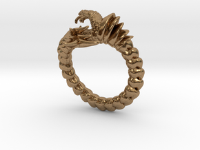 Viper Fish Ring  in Natural Brass