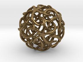 Starfish's Ball in Raw Bronze