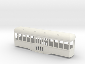 Gn15 center entrance trolley car  in White Strong & Flexible