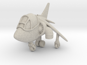 Cartoon Harrier Jump Jet in Natural Sandstone