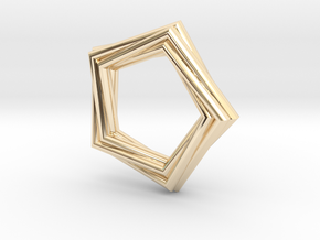 Pentagonal Pendant or Ring in 14K Yellow Gold