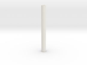 blanks 8mm predrilled in White Natural Versatile Plastic: Extra Small