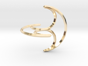 Freely Rolling Konoid 60mm in 14K Yellow Gold