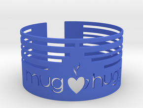Mug hugger wrapper 2014 Lines in Blue Processed Versatile Plastic