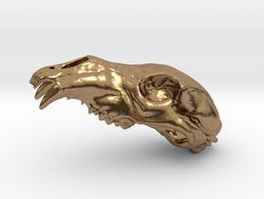 Bear Skull. WT-1. 6cm in Natural Brass