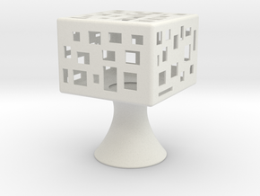 Square-light in White Natural Versatile Plastic
