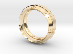 Armored Ring in 14K Yellow Gold