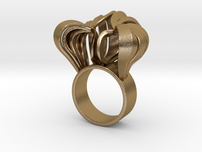 Pumpkin Ring Size 6 in Polished Gold Steel