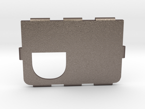 Mark IV Cover D in Polished Bronzed Silver Steel
