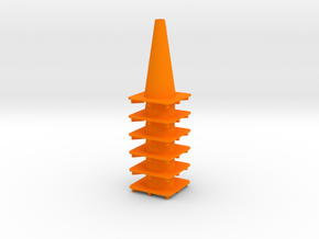"18"" traffic cone 1/12th (6) in Orange Strong & Flexible Polished"