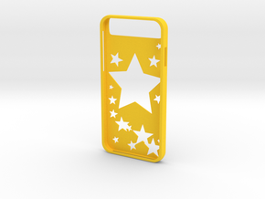 Iphone 6 Star Case in Yellow Strong & Flexible Polished