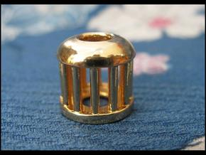 Birdcage Bead 1 (Silver/Brass/Plastic) in 14k Gold Plated