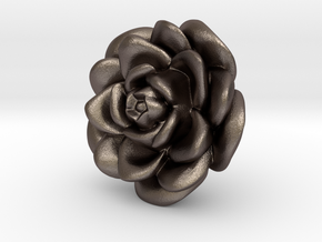 Rose Motif New in Polished Bronzed Silver Steel