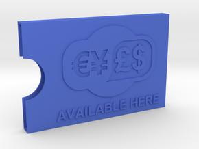 Card holder / card carrier in Blue Processed Versatile Plastic