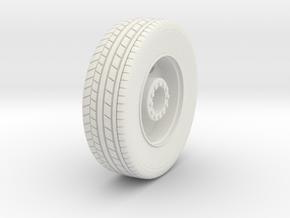 HO 1/87 Pierce Platform Front Wheels  in White Natural Versatile Plastic