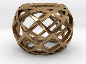 Openwork ring in Natural Brass