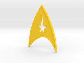 starfleet insigna - command in Yellow Strong & Flexible Polished