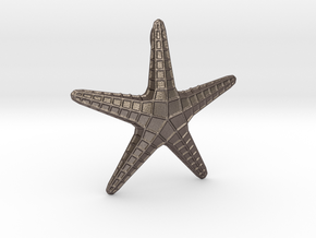Starfish Pendant in Polished Bronzed Silver Steel
