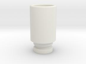 Simplistic 510 driptip in White Natural Versatile Plastic