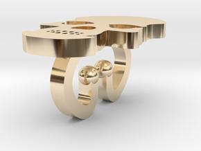Bracelet Tdm (Skull) in 14K Yellow Gold