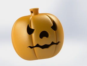 Pumpkin Keychain in Orange Processed Versatile Plastic