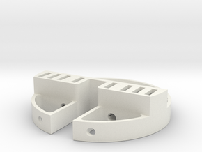 Pod Back With Servo and XT plug holder in White Strong & Flexible