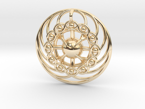Nexus Eye Mandala in 14K Yellow Gold