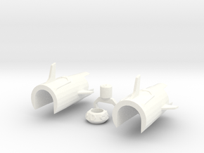 TFP upgrade set duo for Smokescreen in White Processed Versatile Plastic