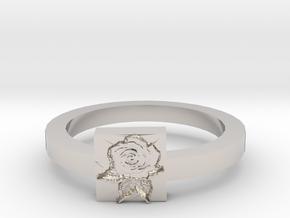 Rose Ring in Platinum