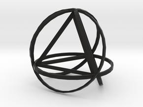 Tetrahedron inside rings in Black Natural Versatile Plastic
