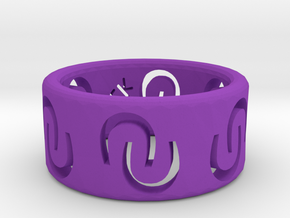 Ring of luck in Purple Processed Versatile Plastic
