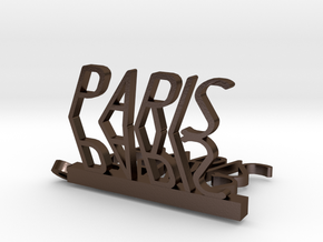 Pendant Paris  in Polished Bronze Steel