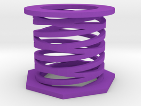 Duel spring in Purple Processed Versatile Plastic