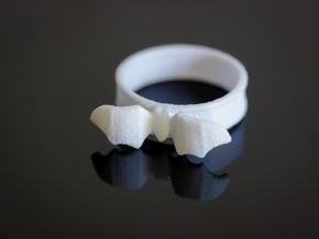 Mid Flight Bat Ring in White Processed Versatile Plastic: 6.5 / 52.75