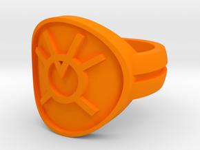 Orange Avarice Double Banded Sz 5 in Orange Strong & Flexible Polished