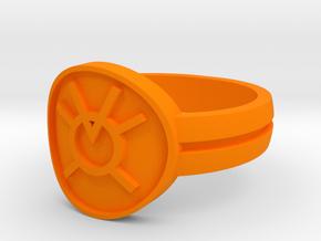 Orange Avarice Double Banded Sz 13 in Orange Strong & Flexible Polished