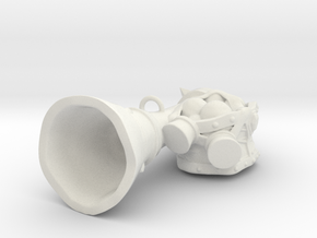 Gunner Cannon Pendant in White Natural Versatile Plastic
