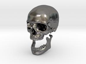 42mm 1.65in Human Skull Crane Schädel че́реп in Polished Nickel Steel