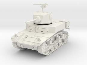 PV31A M3A1 Stuart Light Tank (28mm) in White Natural Versatile Plastic